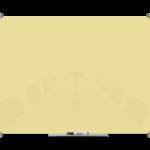לוח זכוכית מחיק בצבע צהוב