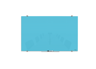 לוח מחיק מגנטי מזכוכית בצבע תכלת